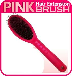 PINK-Hair-Extension-Hairbrush-Brush-Loop-for-silicone-micro-ring-fusion-bond