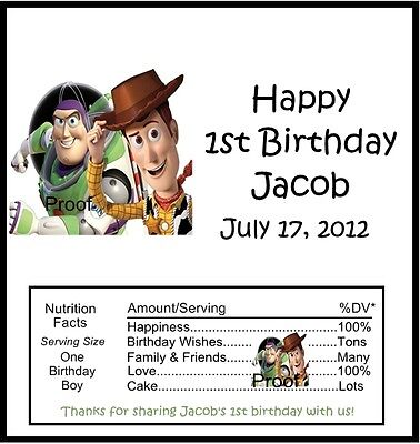 15 Toy Story Birthday Candy Bar Wrappers