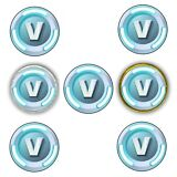 """30 Fortnite V Bucks 1.5"""" Round Labels Stickers Cupcake Topper or Chocolate Coins"""