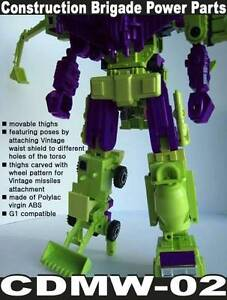 TRANSFORMERS CDMW-02 Vintage g1 DEVASTATOR WAIST PIECE - CONSTRUCTION POWER