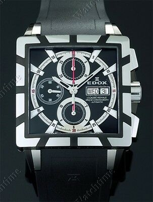 EDOX MEN CLASSE ROYALE GRAND AUTOMATIC CHRONOGRAPH DAY-DATE SAPPHIRE
