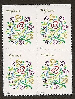 US 4764a Where Dreams Blossom forever block (4 stamps) MNH 2014