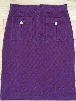 Bonny Pencil Textured Knit Skirt By Vanessa Virginia Purple NW ANTHROPOLOGIE Tag - Textured Knit Skirt