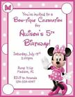 Birthday, Child Minnie Mouse Invitations
