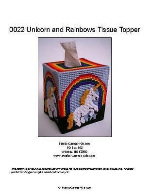 Unicorn and Rainbows Tissue Topper-Plastic Canvas Pattern or Kit](Unicorn And Rainbows)