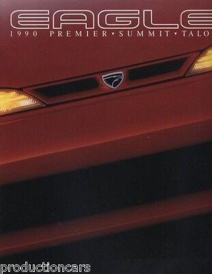 1990 Eagle Original Car Sales Brochure - Talon TSi Premier Summit Limited ES