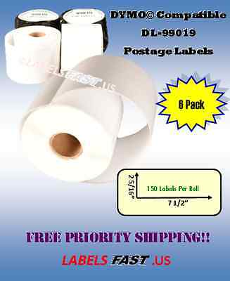 6 Rolls Of Dymo 99019 Compatible Mail Shipping Labels For Ebay And Paypal
