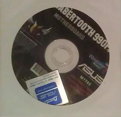 original asus Mainboard Treiber CD DVD Sabertooth 990FX WIN 7 Vista Windows...