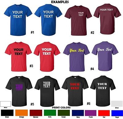 Custom T Shirt Personalized S 5Xl Any Color Your Text Name Print Customized New