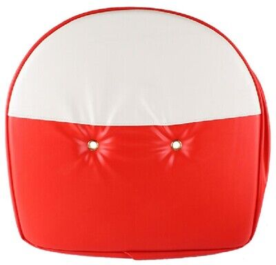 Tractor Universal Red White 19 Pan Seat Cover Cushion