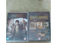 Dvds Lord of the rings trilogy and the hobbit.