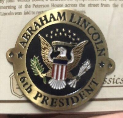 Abraham Lincoln Seal walking Stick Hiking Medallion NEW staff