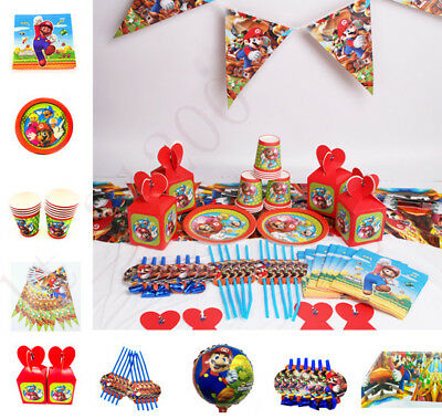 Super Mario Plates (Super Mario Birthday Party Kids Tableware Decoration Plates Tablecloth)