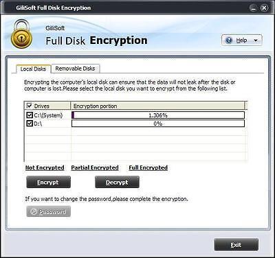 Gilisoft Full Disk Encryption   Encrypt All Disk Partitions  Including System