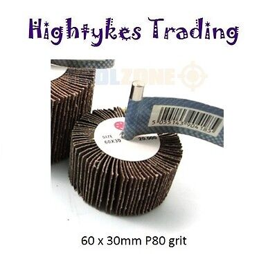 Flap Wheel Disc Sanding Abrasive For Drill 60 x 30 p80 grit