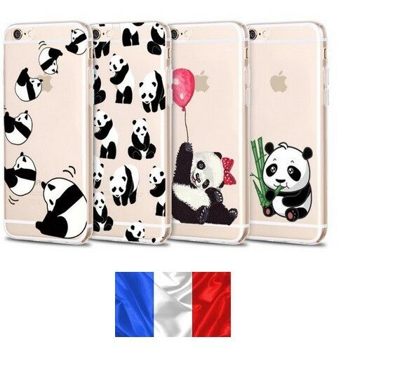 Coque en Gel silicone souple iphone 6 / 6S ,Panda, nounours Expédition de France