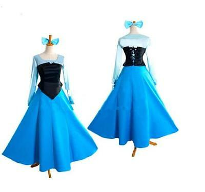 Ariel Cosplay Dress (New Ariel Mermaid Princess Dress Little Mermaid Dress Cosplay Costume Adult)