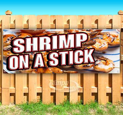 SHRIMP ON A STICK Advertising Vinyl Banner Flag Sign Many Sizes CARNIVAL FOOD