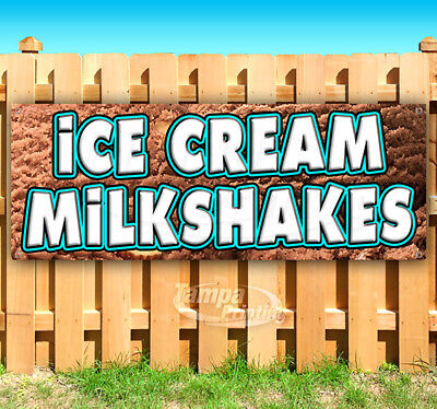Ice Cream Milkshakes Advertising Vinyl Banner Flag Sign Many Sizes Usa