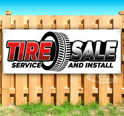Tire Sale Advertising Vinyl Banner Flag Sign Many Sizes Usa Mechanic