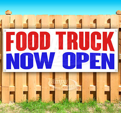 Food Truck Now Open Advertising Vinyl Banner Flag Sign Many Sizes Carnival Food