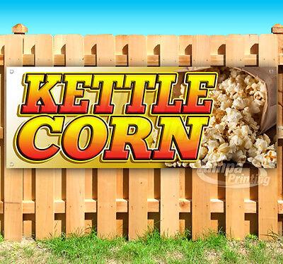Kettle Corn Advertising Vinyl Banner Flag Sign Many Sizes Fair Carnival Food Usa