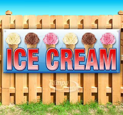 Ice Cream Advertising Vinyl Banner Flag Sign Many Sizes Carnival Fair Food