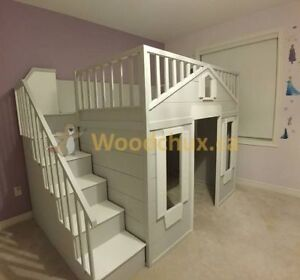 SWEET PEA COTTAGE Bunk Bed / Loft Bed & Play House .. ♥‿♥