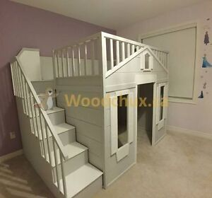 SWEET PEA COTTAGE Bunk Bed or Loft Bed & Play House.. ♥‿♥