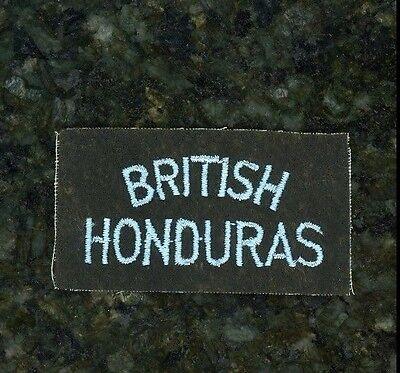 """WWII British Tab """"British Honduras""""."""