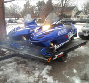 2 Yamaha 700 tripples: a 2001 SRX & 2000 SXR (with trailer)