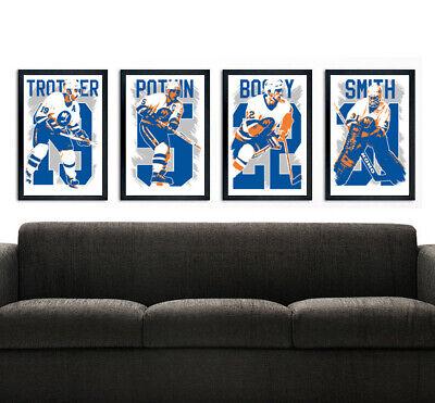 NEW YORK ISLANDERS art print/poster FAN PACK #1 4 PRINTS! Stanley (New York Islanders Fan)