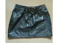 Retro leather look skirt