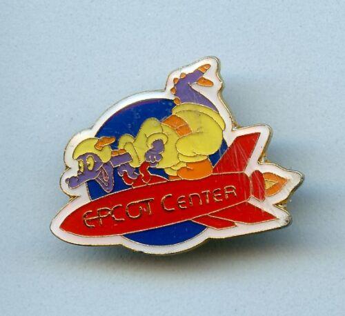 Walt Disney World Epcot Center Figment on a Rocket Jockey 1980s Pin