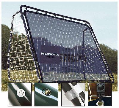 wetterbeständiges Fußballtor mit Rebound u. Netz Hudora 76099 Fußball Tor