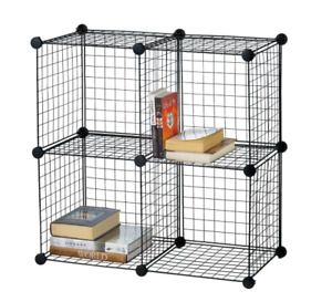 Wire Shelf Cube Unit with 4 sections - Great for dorms!