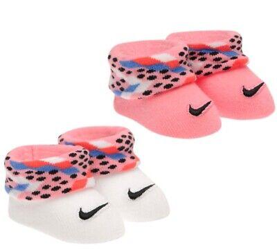 Nike Bebé Chica Zapatos de Niña Calcetines Set 0-6 Meses Rosa Blanco...