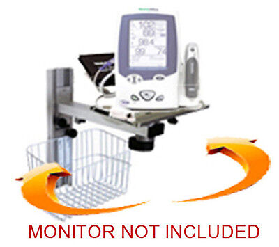Wall Mount For Welch-allyn Spot Lxi Monitor  3 Freedoms 13 Inch Rail
