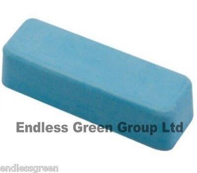 Fine Honing paste - for leather strop sharpening - Smurf Poo - BLUE BAR  110g