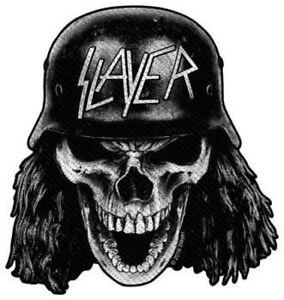 Slayer - Wehrmacht Skull Shape Cut Out s/w Patch Aufnäher Thrash Metal Heavy NEU