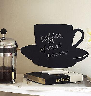 WALLIES CUP & SAUCER CHALKBOARD wall sticker BIG decal with chalk coffee decor](Chalkboard Decor)