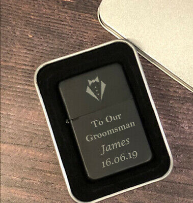 Personalised Groomsman Black Lighters Gifts Ideas For Wedding Favours - Ideas For Groomsmen Gifts