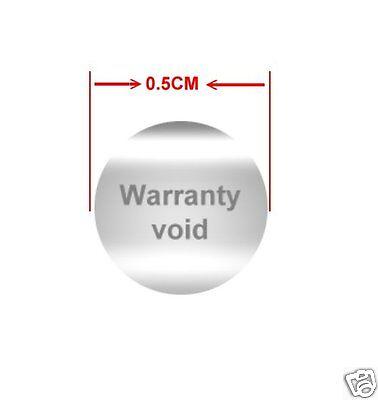 1000pcs Warranty Seal Temper Proof Warranty Sticker Void Temper Evident Srv
