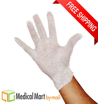 12 Pairs Womens White Cotton Lisle Inspection Gloves 1 Dozen