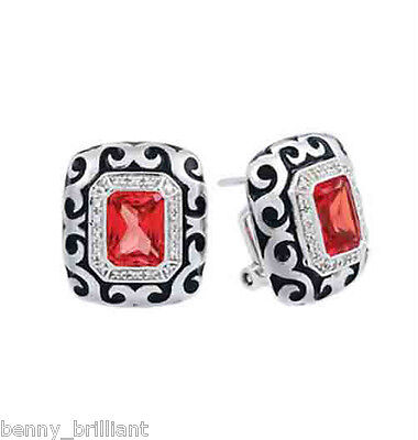 (Belle Etoile Royale Stone Red Earrings NWT )
