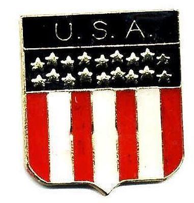 Patriotic U.S.A. Shield American Flag Lapel Pins TG4767