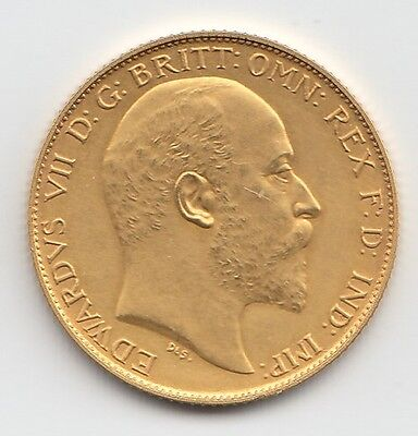 RARE 1902 KING EDWARD VII MATT PROOF GOLD HALF SOVEREIGN COIN.