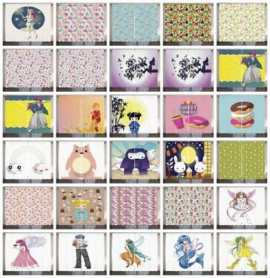 Anime Curtains 2 Panel Set for Decor 5 Sizes Available Windo