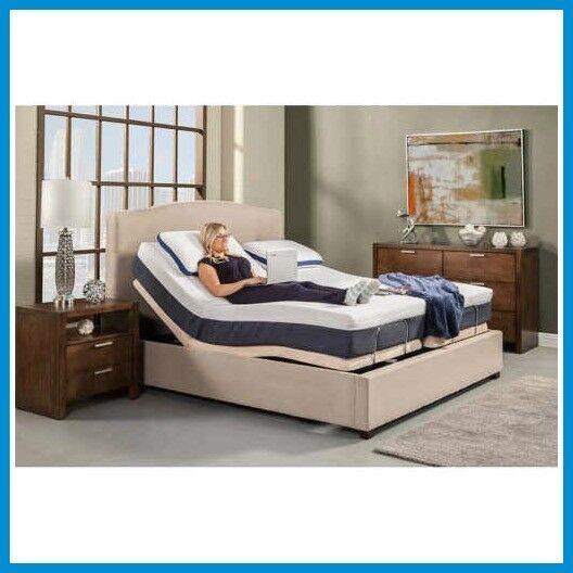 "LEGGETT AND PLATT ELECTRIC ADJUSTABLE BED BASE WITH 10"" SPRI"
