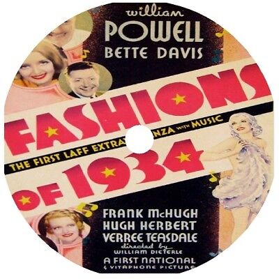 Fashions of 1934 DVD William Powell Bette Davis pre-code V Rare 1934